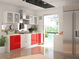 parallel kitchen design kitchen color combinations red and white