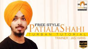 video tutorial turban style free style patiala shahi turban tutorial with commentary easy way