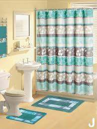 Contemporary Bath Rugs Shower Curtains 17 Pcs Set Contemporary Bath Mat Contour Rug Hooks