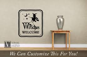witches welcome halloween vinyl decor sign for your homes decor