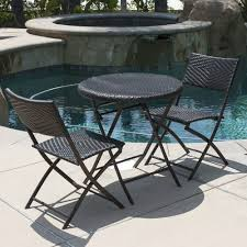 detalles acerca de patio bistro set folding table chairs outdoor