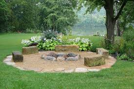 Firepit Area Pit Area Landscape Traditional With Hasta Person Standard