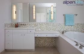 glass mosaic wainscot alpentile glass tile pools and spas