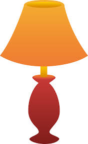 red table lamp free clip art