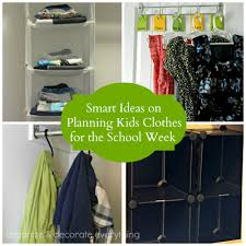 smart ideas on planning kids clothes for the week