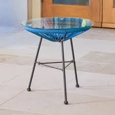 Metal Patio Side Table Metal Outdoor Coffee Side Tables For Less Overstock