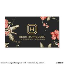 glamorous monogram with vintage floral pattern customizable