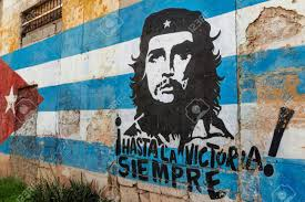 Che Guevara Flag Che Guevara Painting Wall In Havana Cuba Stock Photo Picture And