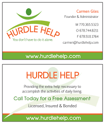 Home Design And Layout Business Card Design And Layout Created For Hurdle Help A Senior