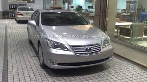 white lexus 2010 2010 lexus es 350 facelift spotted in dealership