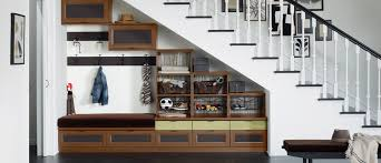 under stairs shelving 3 tips for over and under stairs storage california closets