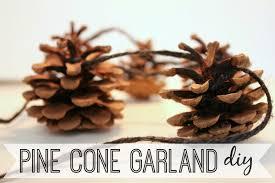 eat sleep make diy pine cone garland
