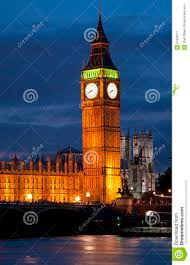 London Clock Tower Big Ben Clock Tower And House Of Parliament In London At Night