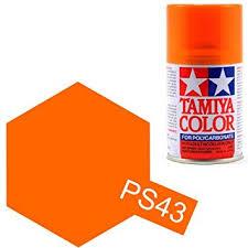 buy ps 43 tamiya color transparent orange polycarbonate spray