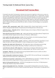 outbreak movie worksheet free worksheets library download and
