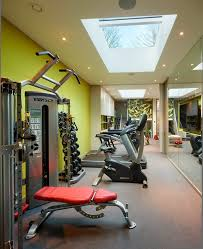 Home Gym Decor Ideas Gym Decorating Ideas Home Gym Contemporary With Weights Glass Wall