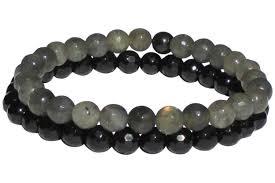 energy bracelet images Labradorite black tourmaline positive energy bracelet shaman jpg