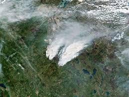 Alberta Wildfire Satellite Images by Forest Fires Can Heat Up The Whole Planet