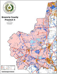 Harris County Zip Code Map by Precinct 4 Map Brazoria County Tx