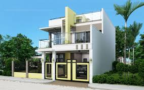 two house designs prosperito single attached two house design with roof deck