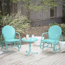 2 Chair Patio Set by Amazing 2 Piece Patio Set Outdoor 3 Piece Retro Turquoise Blue