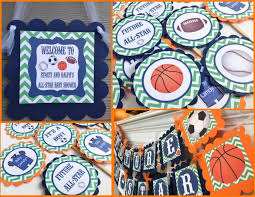 future all star baby shower banner collection baseball football