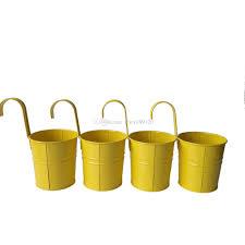 d9 5xh17 5cm yellow color metal plant flower pot hook planter