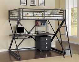 bunk beds twin metal loft bed with desk metal loft bed with desk