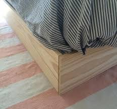 How To Make A Box Bed Frame Diy Faux Bed Frame Box Cover Box And
