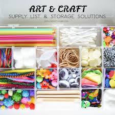 craft supply list storage solutions a crafty living
