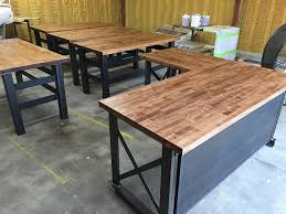 industrial desk l amazon com the carruca office desk l shape executive desk handmade