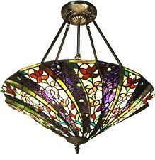 Stained Glass Light Fixtures Dining Room Stained Glass Ceiling Light Fixture Mission Style