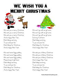 we wish you a merry lyrics teaching