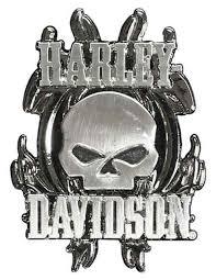harley davidson vicious willie g skull 3d die cast pin nickel