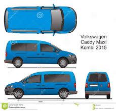 volkswagen van drawing vw caddy maxi combi 2015 stock vector image 86258847