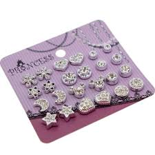 clip on earrings for kids clear magnetic clip on stud earrings fashion jewelry for