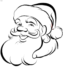 santa clipart coloring page collection