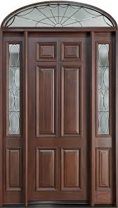front door custom single with 2 sidelites w transom solid