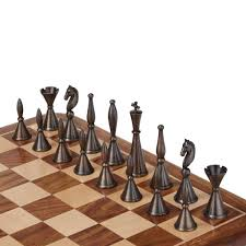 unusual chess sets art deco brass chess set by uber games notonthehighstreet com