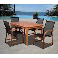 safavieh arvin gray wash 5 piece patio dining set pat7001b