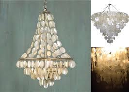 Seashell Light Fixture L Capiz Shell Chandelier Lighting And Light Fixtures Pier