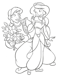 coloriages aladin jasmine 3 aladdin and princess jasmine