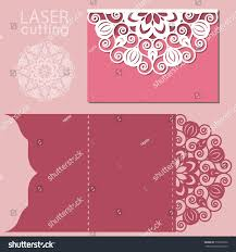 Invitation Cards Template Laser Cut Wedding Invitation Card Template Stock Vector 516367372
