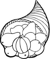thanksgiving horn of plenty coloring page free printable