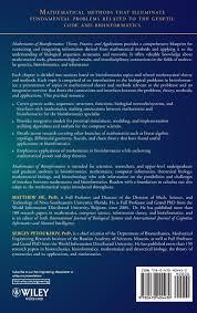 blueprint math mathematics of bioinformatics theory methods and applications
