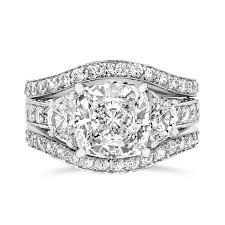 ring sets cubic zirconia rings 3 5 ct cushion cut 14k wedding set r7557w