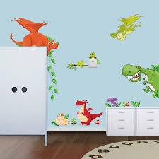 stickers pour chambre d enfant dinosaure de bande dessinée zoo stickers muraux pour chambre d