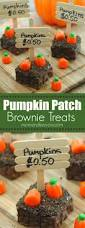 halloween party food ideas for children pumpkin patch brownie treats perfect for a non spooky halloween