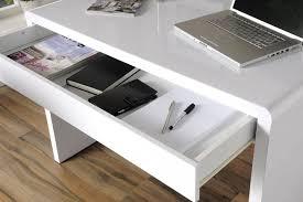 White High Gloss Office Desk High Gloss White Office Desk Exile Office Reality