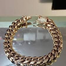 rose link bracelet images Best 14kt rose gold miami cuban link bracelet vvs diamond jpg
